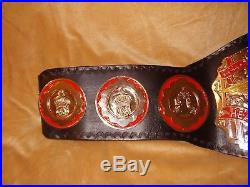 Real Wwc Universal Heavyweight Wrestling Championship Title Belt Wwe Nwa Wcw