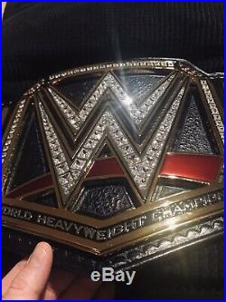 Releathered Restoned WWE Championship Belt with additional Side Plates