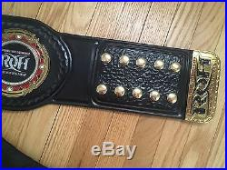 Ring of Honor RELEATHERED Wrestling Belt Championship Title Figs Inc ROH WWE TNA