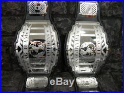 SALE! Tag Team Championship Belts 2 Legend Model Adult wwf Metal Plates wwe wcw
