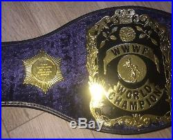 SIGNED WWWF Bruno Sammartino World Heavyweight Championship Belt WWF WWE HOF