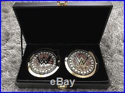 Signed Bray Wyatt WWE Adult Replica Championship Belt + Bray Wyatt Side Plates