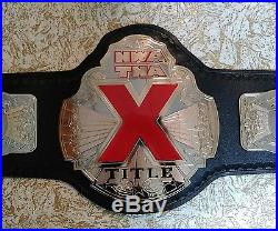 TNA NWA X DIVISION CHAMPIONSHIP TITLE REPLICA BELT very rare AJ Styles WWE metal
