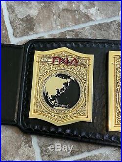 TNA World Tag Team Championship Belt On American leather WWE ECW WCW