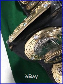 TNA Wrestling Championship Belt Metal Plates Replica (autographed) WWE WCW WWF