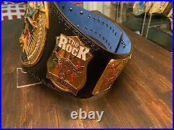The Rock Brahma Bull Championship belt Restoned w Swarovski Jewels WWE Replica