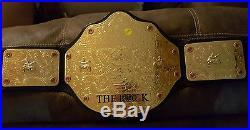 The Rock WWE world championship belt