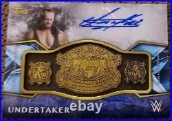 The UNDERTAKER 2017 Topps LEGENDS WWE Championship Belt AUTO /25! WWF AUTOGRAPH