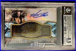 Topps WWE Legends UNDERTAKER AUTO Championship Belt BGS 8.5/10