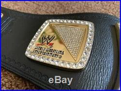 ULTRA DELUXE WWE Championship Spinner Replica Belt Real Leather + Velvet Bag