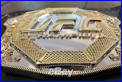 Ufc Mega Deluxe Releathered Championship Mma Belt Wwe Officially Licensed