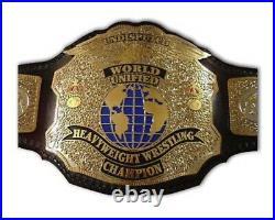 Undisputed World Unified Heavyweight Wrestling ChampionshipBelt. Brass Metalplate