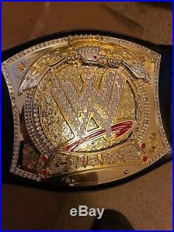 Used Adult Size Commemorative Replica WWE Championship Spinner Belt
