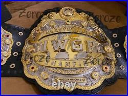 V3 IWGP World Heavyweight Wrestling Championship Belt Replica Adult 4mm Zinc