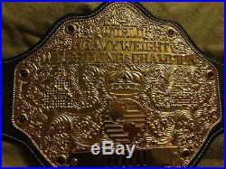 WCW 3D Big Gold Wrestling Championship Title Belt (Ric Flair, WWF, WWE, IWGP, NWA)