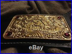 WCW 3d Big Gold Wrestling Championship Belt (WCWithWWF/WWE/NWA/TNA/AWA)