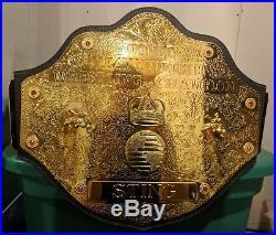 WCW NWA WWE Big GOLD World Championship Title Adult Size Belt Sting Flair 1998