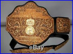 WCW WWE Crumrine World Heavyweight Championship Belt The Big Gold + REAL Leather