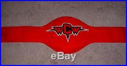WCW World Championship Big Gold Belt & Bag Hulk Hogan Name Plate WWE TNA