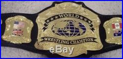 WORLD PREMIERE CHAMPIONSHIP WRESTLING BELT WWE WWF NWA WCW NWA TITLE(2mm Plates)