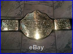 WWE Adult Replica Big Gold World Heavyweight Championship BELT METAL PLATES WWF