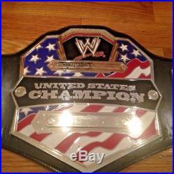 WWE Adult Size United States Championship Commemorative Title Belt + 2 plates