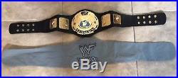 WWE Attitude Replica Championship Belt + zipper carry bag 2002 Child Size 42
