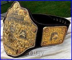 WWE BIG GOLD WORLD HEAVYWEIGHT CHAMPIONSHIP Belt Dual Plated Adult Size Zinc
