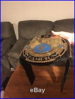 WWE Big Eagle World Championship Belt Adult Replica Attitude Era Releathered