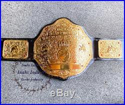 WWE Big Gold World Heavyweight Wrestling Championship Belt 4mm Zinc Plates