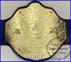 WWE Big Gold World Heavyweight Wrestling Championship Leather Belt