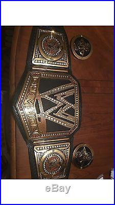 WWE Big Logo Replica championship belt. Adult Metal Randy Orton Side Plates