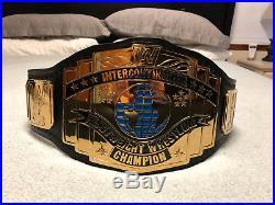 WWE Black Intercontinental Championship Replica Title Belt (NEW)