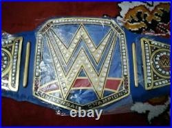WWE Blue Universal Wrestling Championship Leather Belt Replica Metal Plates