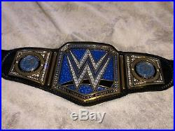 WWE Championship Belt! AJ styles Tribute! Restoned! Releathered! One Of A Kind