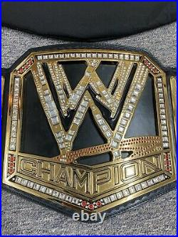 WWE Championship Belt Adult Replica Big Logo withBag Figures Toy Co Authentic