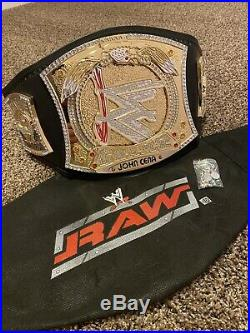 WWE Championship Belt. Figs Spinner Belt Releathered. Adult Size