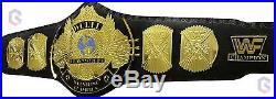 WWE Championship Belt Replica Winged Eagle Stone Gold Smoking Skull Real Leather