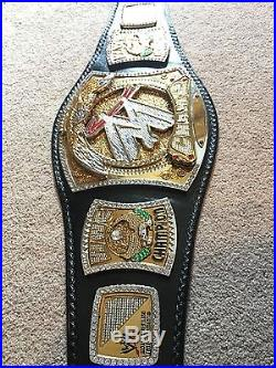 WWE Championship Re-leathered Spinner Belt