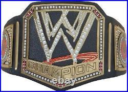 WWE Championship Replica Scratch logo Title Belt Leather Zinc Brass