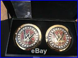 WWE Championship Replica Title Belt with AJ Styles Side Plates