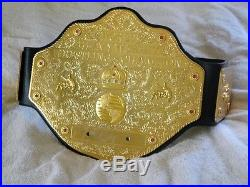 WWE Championship Title Belt World Heavy Weight WCW SIGNED by various wrestlers