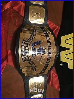 WWE Deluxe WWF Intercontinental Championship belt Adult Metal Signed Bret Hart