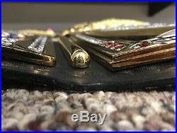 WWE Elite Championship Replica Restoned Real Leather Belt Addiction Side Bars