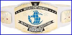 WWE Intercontinental Belt White Replica Wrestling Championship Title Toy Kids