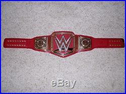 WWE LICENSED UNIVERSAL CHAMPIONSHIP METAL ADULT SIZE RAW REPLICA TITLE BELT wwf