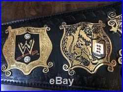 WWE Metal Plate Leather Strap Adult Size Undisputed Championship Title Belt V2