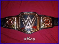 WWE NETWORK LOGO CHAMPIONSHIP WRESTLING BELT TITLE RELEATHER and RESTONED ELITE