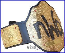 WWE NWO Spray Paint Championship Replica Title Belt Leather Zinc Brass 2mm 4mm