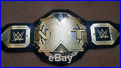 WWE NXT Wrestling Championship Belt Leather Thick Metal Plates Replica Adult New